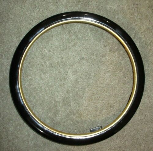 Van Hygan Smythe Plate Frame Black Lacquer Gilt Rim