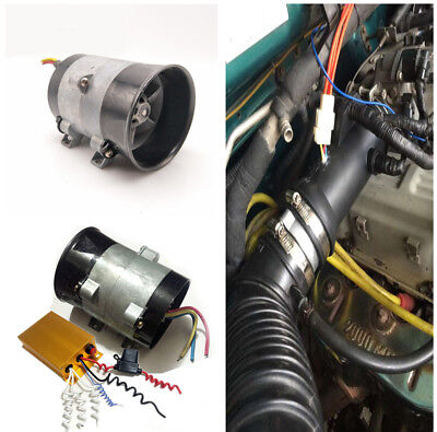 35000 rpm Electric Turbine Power Turbo Charger Boost Air Intake Fan+Controller