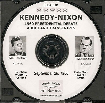 JOHN F. KENNEDY & RICHARD M. NIXON 1960 DEBATES - 4 DEBATES ON 4 AUDIO CDs Nixon Audio