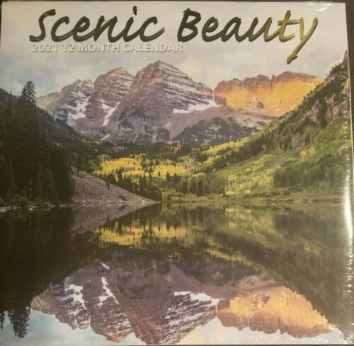 "Scenic Beauty 12 Month 2021 Wall Calendar 12""X12"""