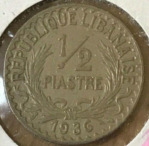 1936 Lebanon 1/2 Piastre