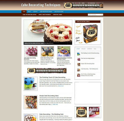CAKE DECORATING HELP WEBSITE BLOG AND UK AFFILIATE STORE PLUS FREE DOMAIN