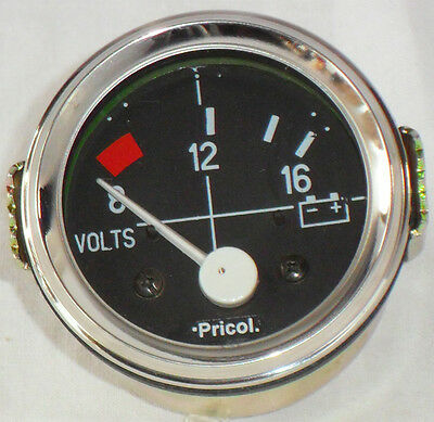 "52MM (2"") CHROME DIAL GAUGE CAR UNIVERSAL 8-16 VOLT METER CLOCK 12V"