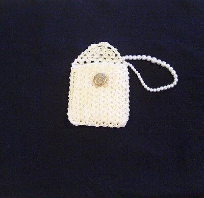 Hand Crochet Ecru Rosary Jewelry Pouch Case