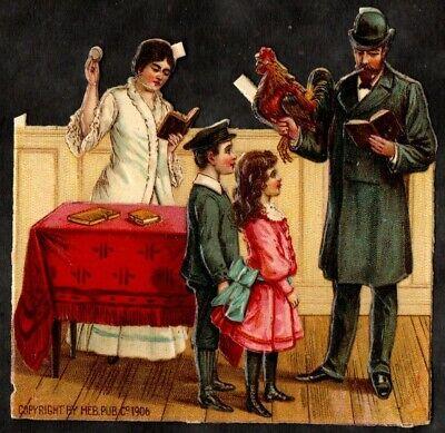 1900'S JUDAICA DIE CUT PRIZE  7X8 CM  JEWISH  KAPAROTH  LOW START