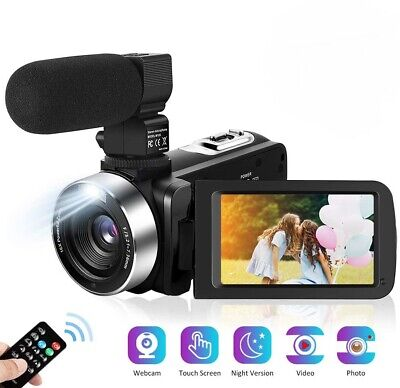 2.7K Video Camera with Microphone 30MP 3.0 Inch 1080P 30FPS FHD Webcam