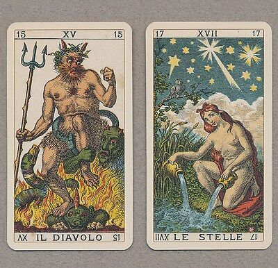 ANCIENT ITALIAN TAROT CARD DECK - REPLICA OF 78 ENGRAVED CARDS FROM 1880