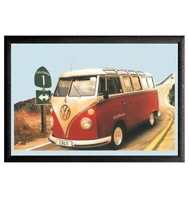 Cuadro Espejo Volkswagen Van Retro