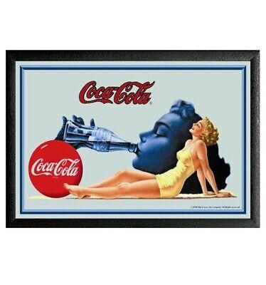 Cuadro Espejo Retro Coca Cola Chica Bañador