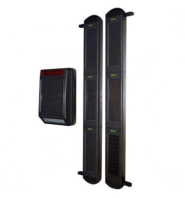 (Siren & 3B Beams, Fully Solar Powered Wireless Perimeter Alarm System)