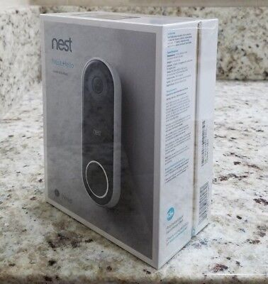 NEST HELLO Video Doorbell HDR Full HD (NC5100US) - Sealed NEW
