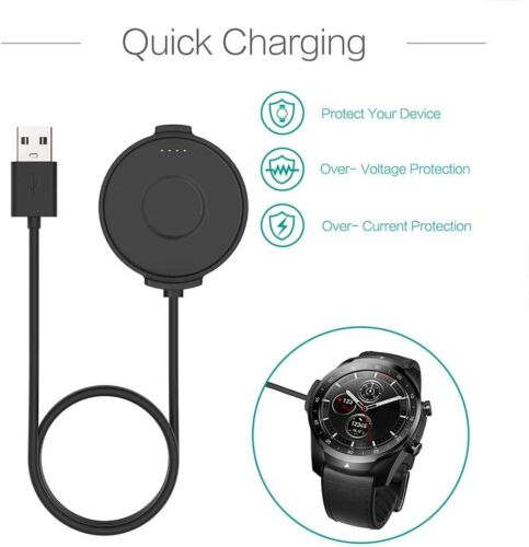 Ticwatch Pro Charger Cable Replacement Charging Dock Cradle For Smartwatch Home