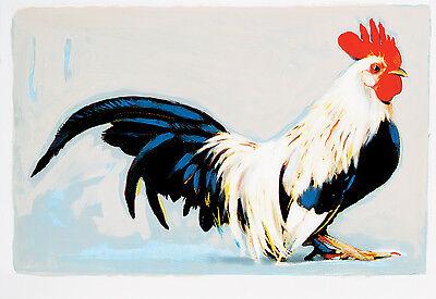 """""""Rooster"""" on Canvas 26"""" x 38"""", Michael Vollbracht, Fashion Designer Artist"""