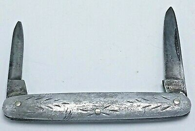 Hibbard Spencer Bartlett & Co Pocket knife 2 blades Aluminum Handle