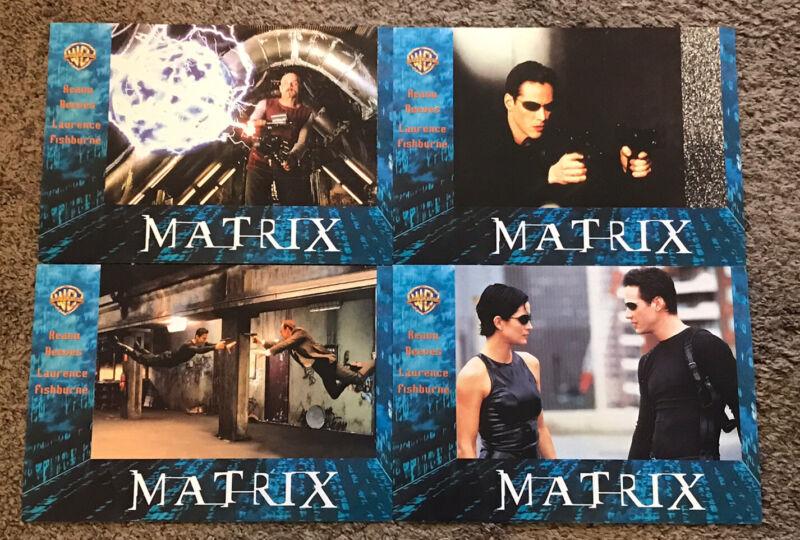 "Original 1999 THE MATRIX Czech Movie Lobby Cards (4), 8 1/2x12"""