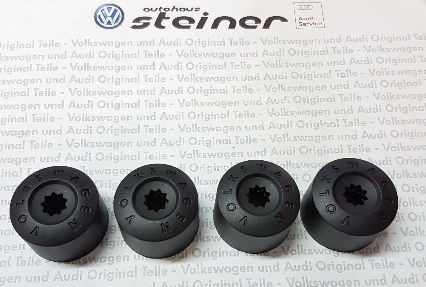 4x Original Volkswagen VW Abdeckkappe Radschraube Felgenschloss 1K0601173A 9B9