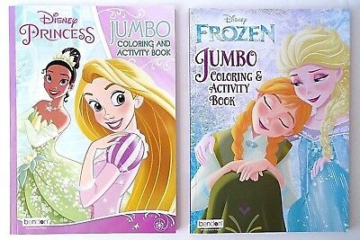 Lot of 2, FROZEN and Disney PRINCESS Coloring and Activity Books, for Children