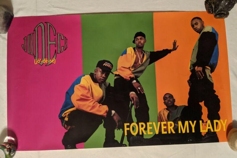 Vintage early 90s Jodeci Promo Rap Hip-hop R&B Record Store POSTER Rare