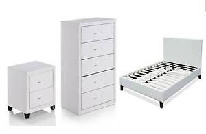 PU Leather Package Deals- Beds/Bedsides/Tallboy**FREE DELIVERY** Brisbane City Brisbane North West Preview