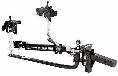 Husky Round Bar Weight Distribution Hitch Sway Control Tow Trailer RV SUV -