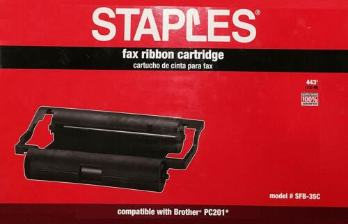 Staples Brand Fax Ribbon Cartridge Compatible with  Brother PC201 NIB
