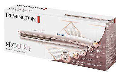 Remington ProLuxe Women's Hair Straighteners Ceramic OptiHeat - S9100, Rose Gold