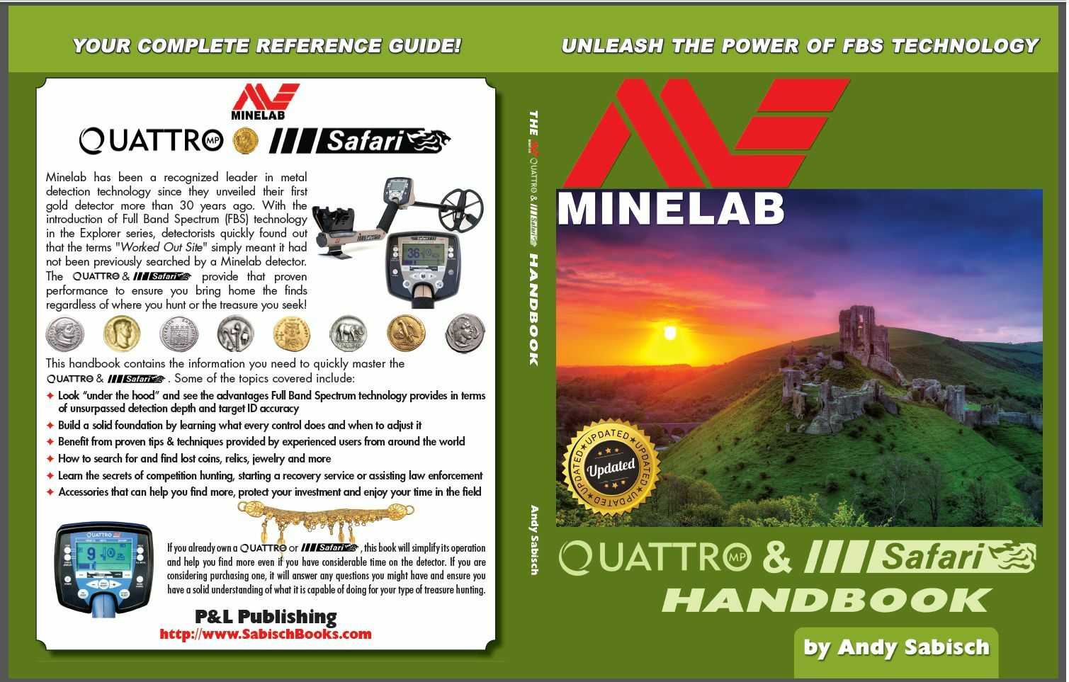 Minelab Safari and Quattro  Handbook...Signed by the Author Andy Sabisch