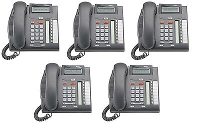 Nortel Aka Avaya Norstar T7208 Charcoal Phones Nt8b26aabl Qty 5