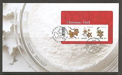 Canada SC # 2581 Gingerbread Cookies ( Christmas 2012 ) FDC. Lowe-Martin