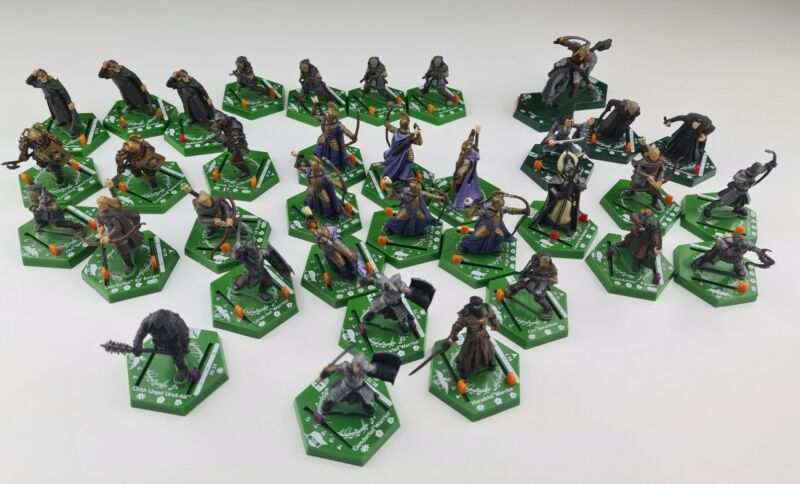 Bundle of Lord Of The Rings Combat Hex Mounted Units x 35 LOTR Figures FREE P&P
