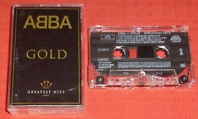 ABBA - UK CHROME CASSETTE TAPE - GOLD - GREATEST HITS - (BEST OF)