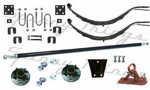 DIY-Single-Axle-TRAILER-KIT-750kg-Trailer-Parts-Caravan-Boat-Axle-Springs