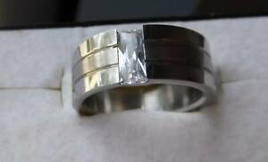 SOLID STAINLESS STEEL UNISEX RINGS, 2 TO CHOOSE, S8-8.5, BRAND NEW