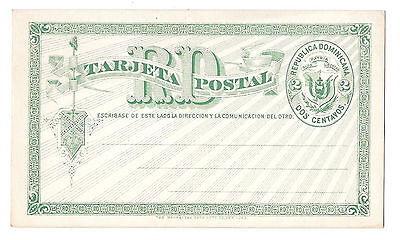 Dominican Republic 1881 HG1 Postal Stationery Card 2c Green Unused