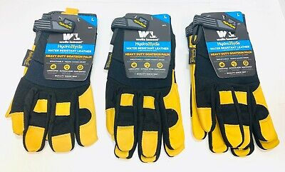 Wells Lamont Hydrahyde Premium Leather Work Gloves Mens Mediumlargexl New