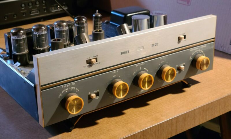 Vintage Bogen DB212 Integrated Stereo Tube Amplifier Restored