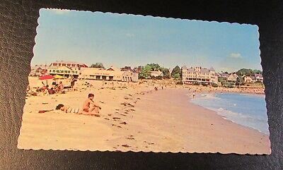 Old Postcard<YORK BEACH, MAINE>{VIEW OF SHORT SANDS BEACH---1974}