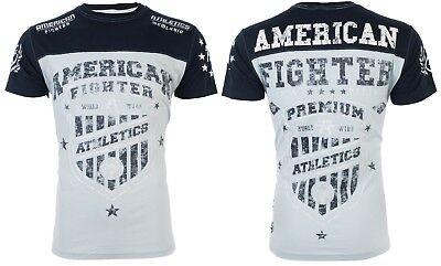 Usn Fighter - AMERICAN FIGHTER Men T-Shirt GRADUATE Athletic LIGHT BLUE NAVY Biker Gym UFC $40