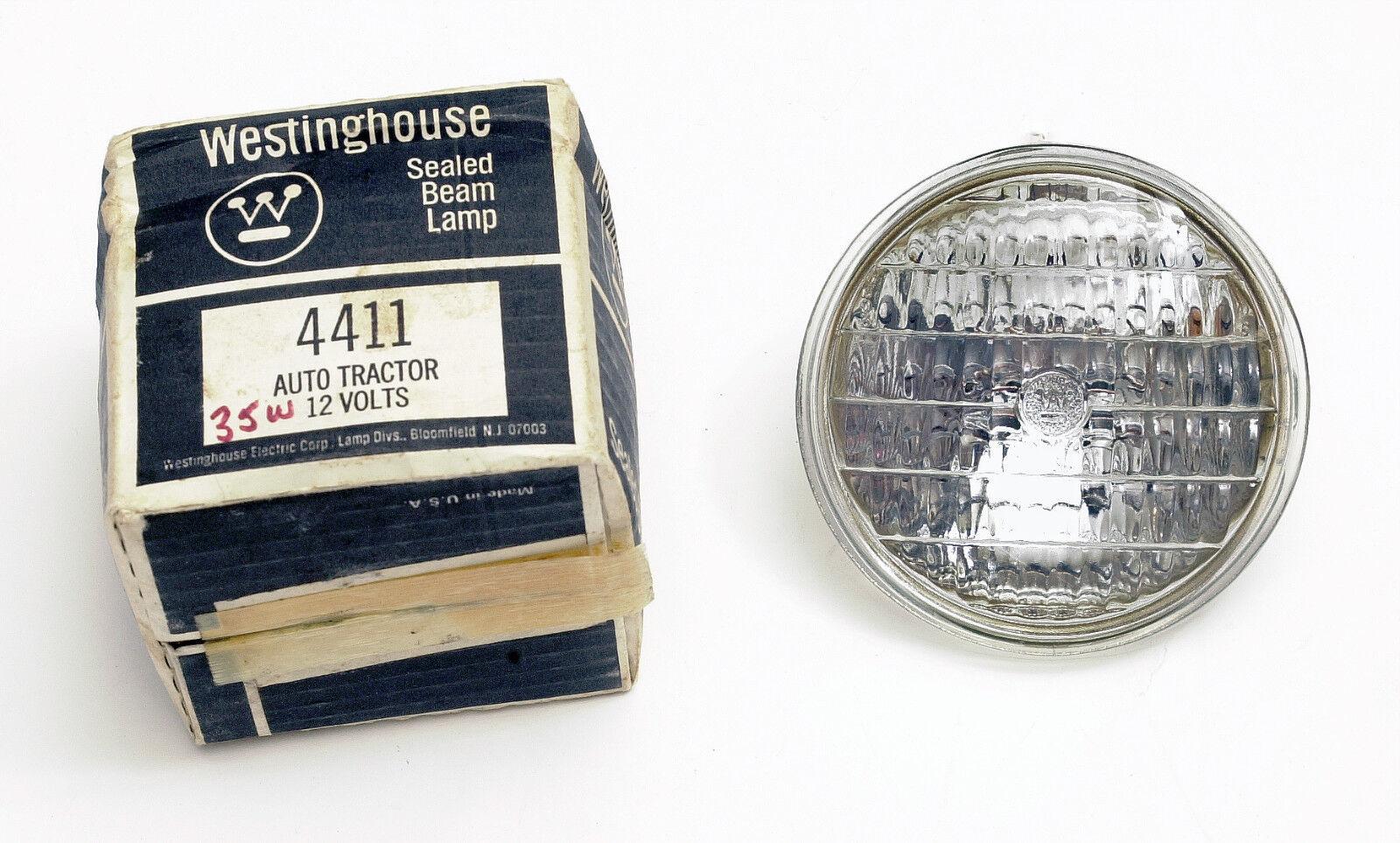Westinghouse 4411 Sealed Beam 35 watt 12 Volt Lamp Bulb  MADE IN USA!