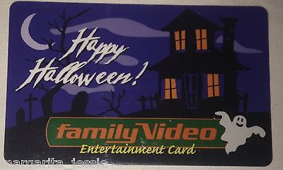 FAMILY VIDEO STORE HAPPY HALLOWEEN GIFT CARD HAUNTED HOUSE GHOST NO VALUE NEW - Haunted Halloween Store