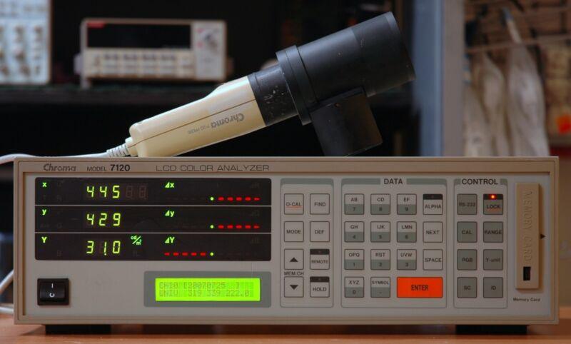 Chroma 7120 Color Analyzer with  Measuring Probe