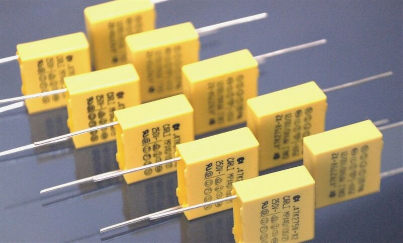 10 Carli 0.47uf @ 275Vac X2 Metallized Poly Film Safety Capacitors MPX40/100/21
