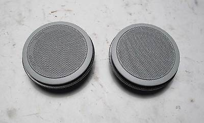 BMW E46 3-Series X5 4dr Front Door Mid-Range Loudspeaker Speaker Pair Grey 99-06