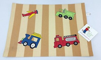 Fire Truck Placemat (NEW Kids Construction Placemat Meal Dinning Learning Mat Train Plane Firetruck)