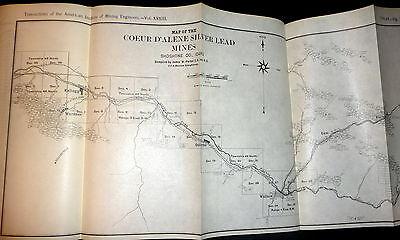 American Institute Of Mining Engineers 1902 Transactions  Coeur D Alenes Etc