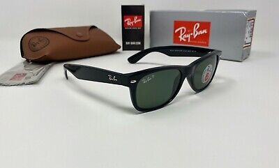 Ray-Ban® NEW WAYFARER CLASSIC RB2132 901/58 Sunglasses POLARIZED Green G-15 (Rb2132 901 52)
