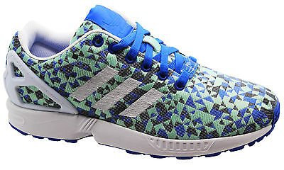 751c2b5fdb81a Details about Adidas Originals ZX Flux Weave Mens Trainers Running Shoes  White B34474 B34E