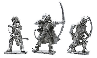 3 Piece Archers Set - 100% Lead-Free Pewter - Classic Fantasy Miniatures for