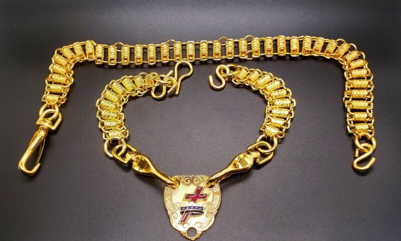 Masonic Knights Templar Ceremonial Sword Chains and Insignia