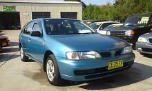 1996 Nissan Pulsar Hatch 4 Cyl 5 Speed 3 Months rego Immaculate Granville Parramatta Area Preview